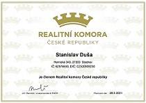 Certifikát Real.Komora