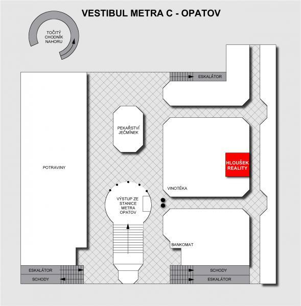Pláneček metra C - Opatov