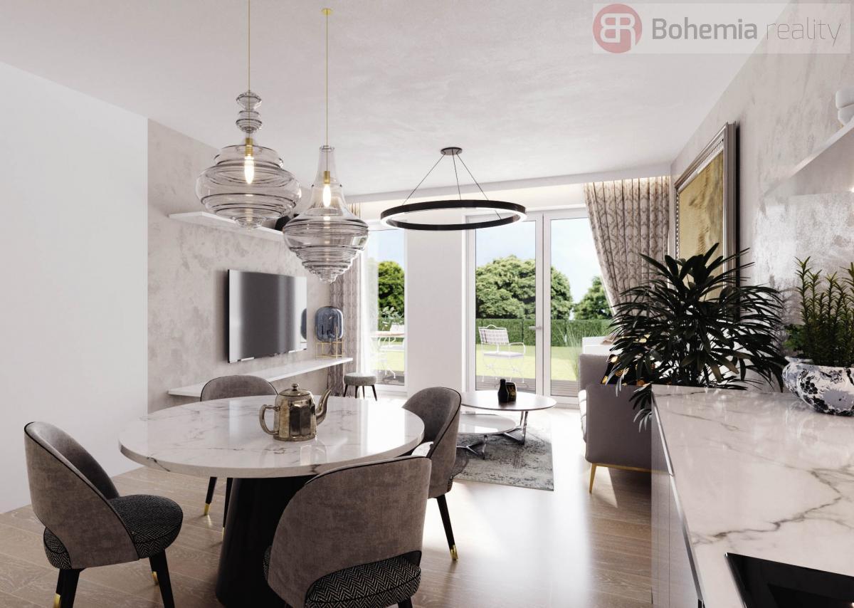 Prodej bytu 3+kk, 79 m2, novostavba - OV, Průhonice