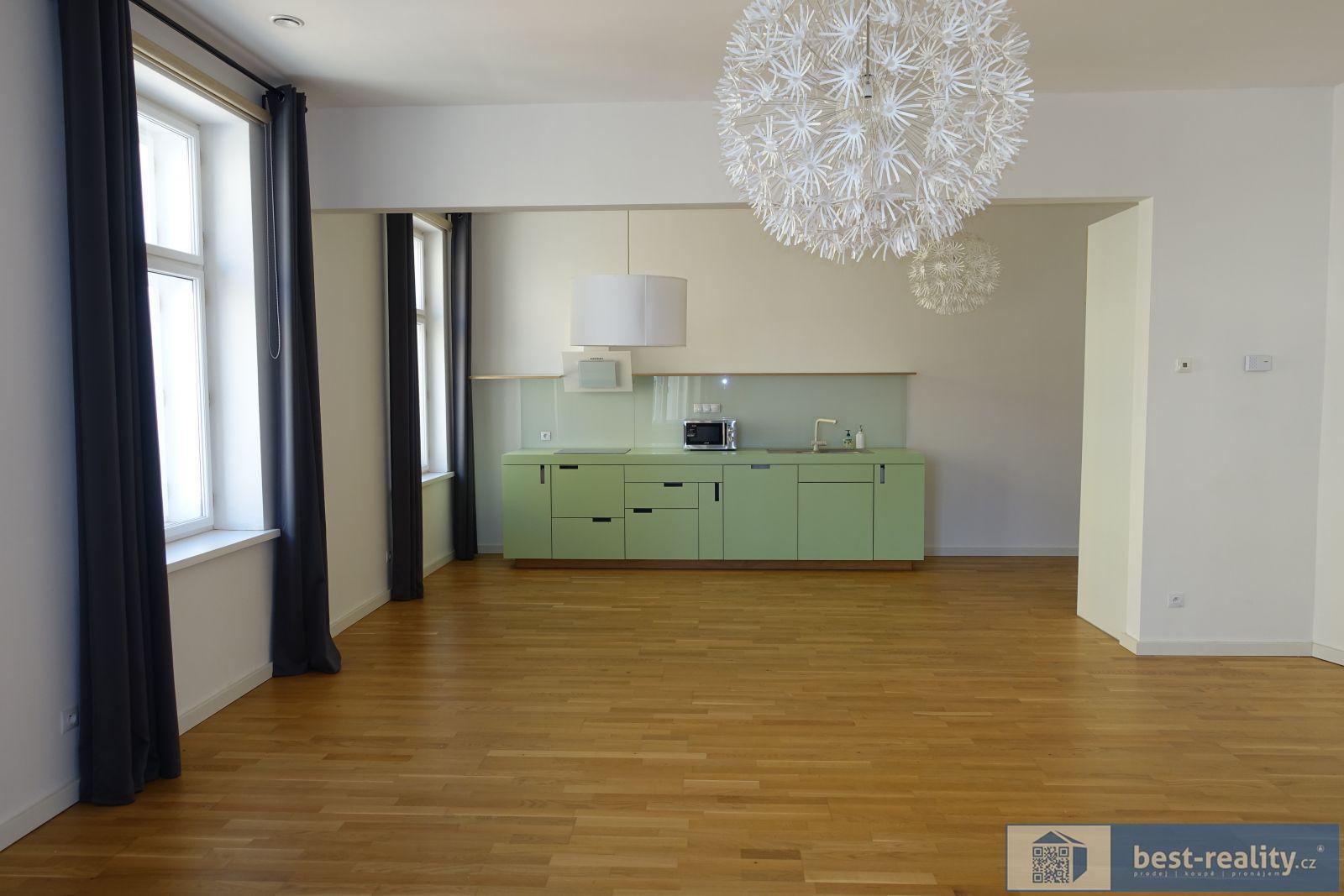 Pronájem prostorného bytu 3+kk, OV, 100m2, Praha 3 - Žižkov