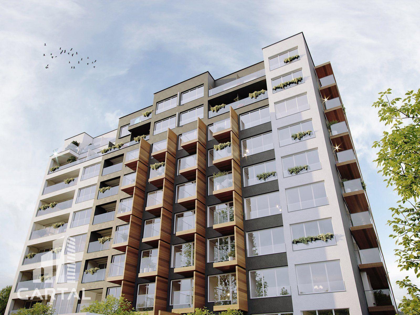 Elegantní 4+kk na Praze 4 s francouzskými okny, podlahovým vytápěním, balkon a 2 terasy.
