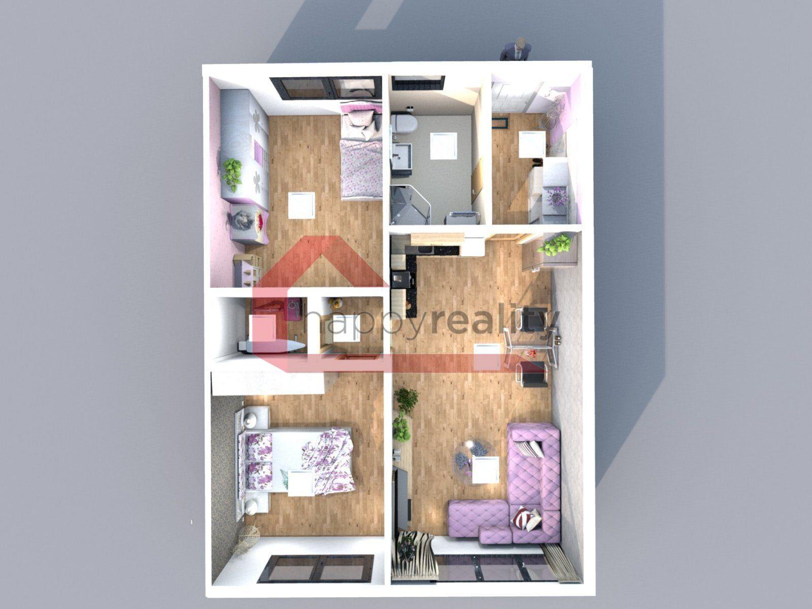Prodej, nízkoenergetická novostavba, bezbarierový byt 3+kk Hodonín ,Radniční ,CP: 54,43m2