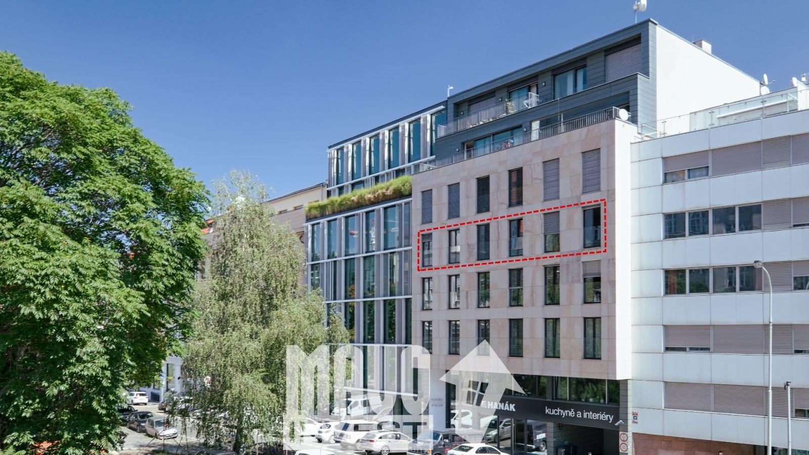 Prodej bytu 4+kk, 141m2, 2 garážové stání - Praha - Smíchov