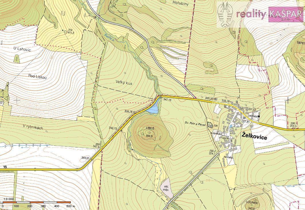 Lounsko - Želkovice u Loun - prodej zemědělských pozemků o celkové výměře 60711 m2