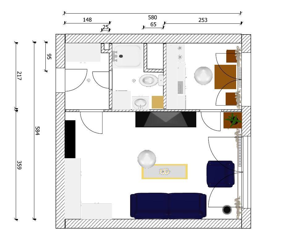 Pronájem bytu 1+1/L, 41 m2, Praha 8 Střížkov