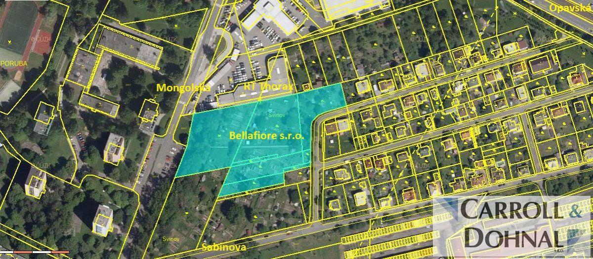 Prodej pozemku pro rezidenční bydlení, 12000 m2, Ostrava- Svinov