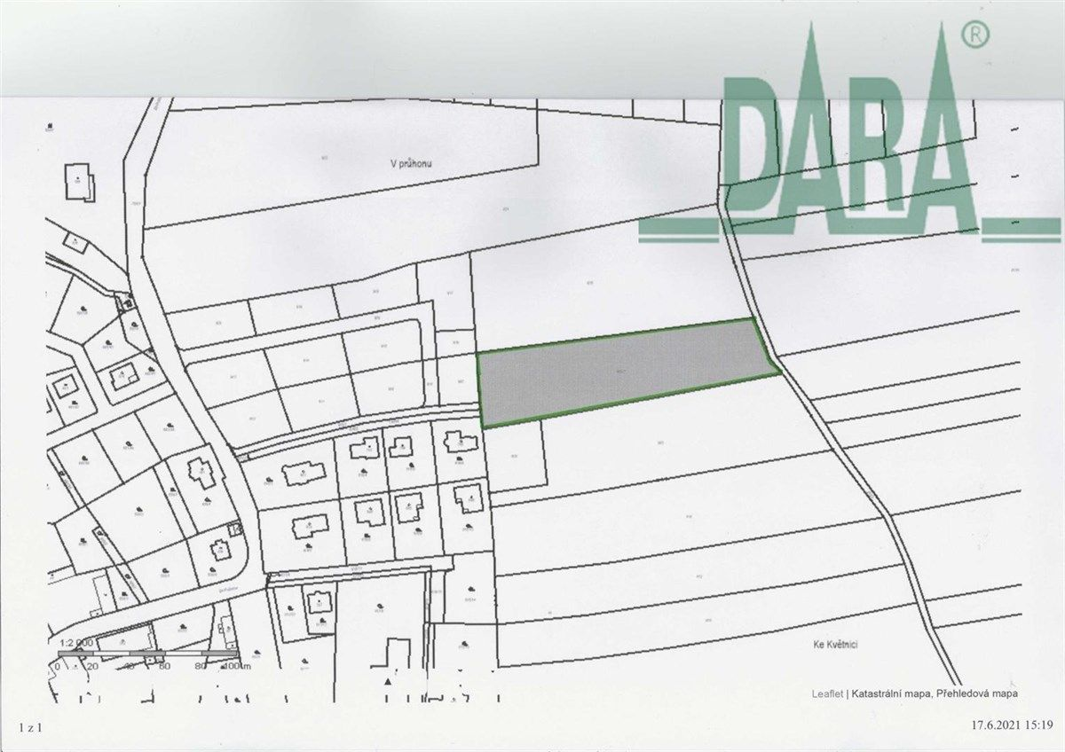 Prodej pozemkové parcely 6234 m2, k.ú. Květnice