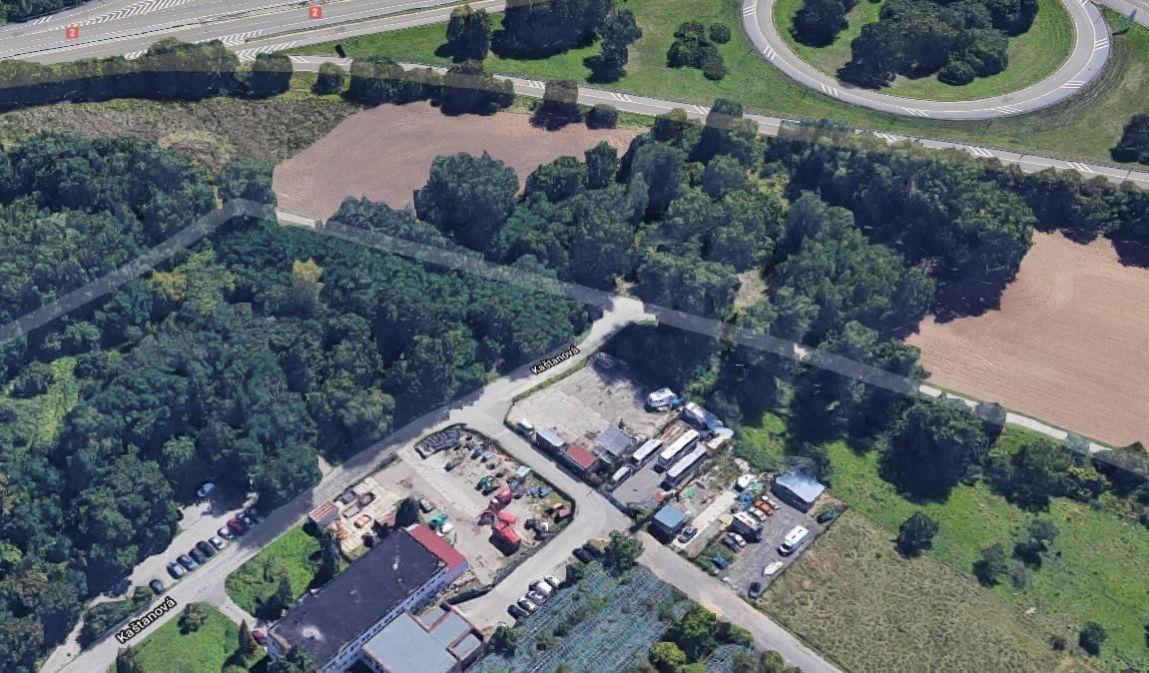 Pronájem pozemku 1000 m2 - Brno - Horní Heršpice, ul. Kaštanová