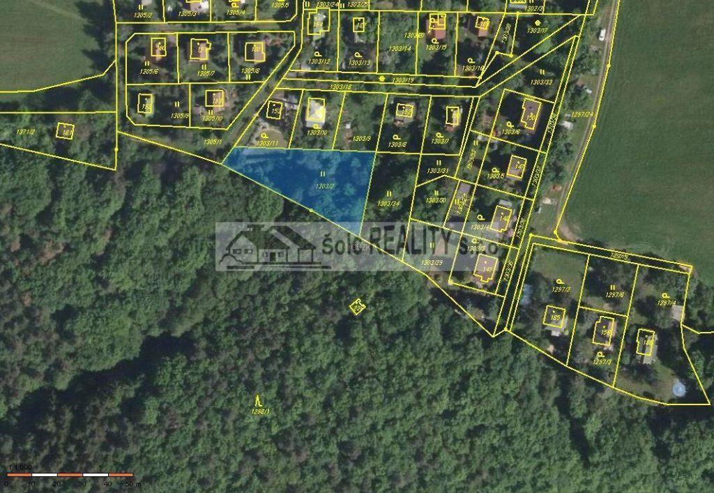 Prodej pozemku o výměře 1202 m2