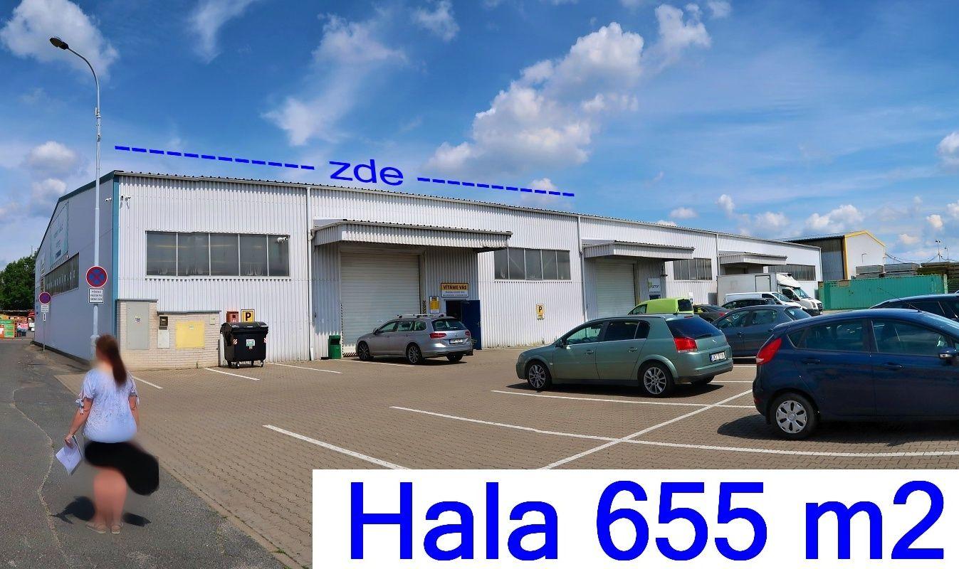 Prodejně - skladová hala 655 m2, zázemí, Praha 10