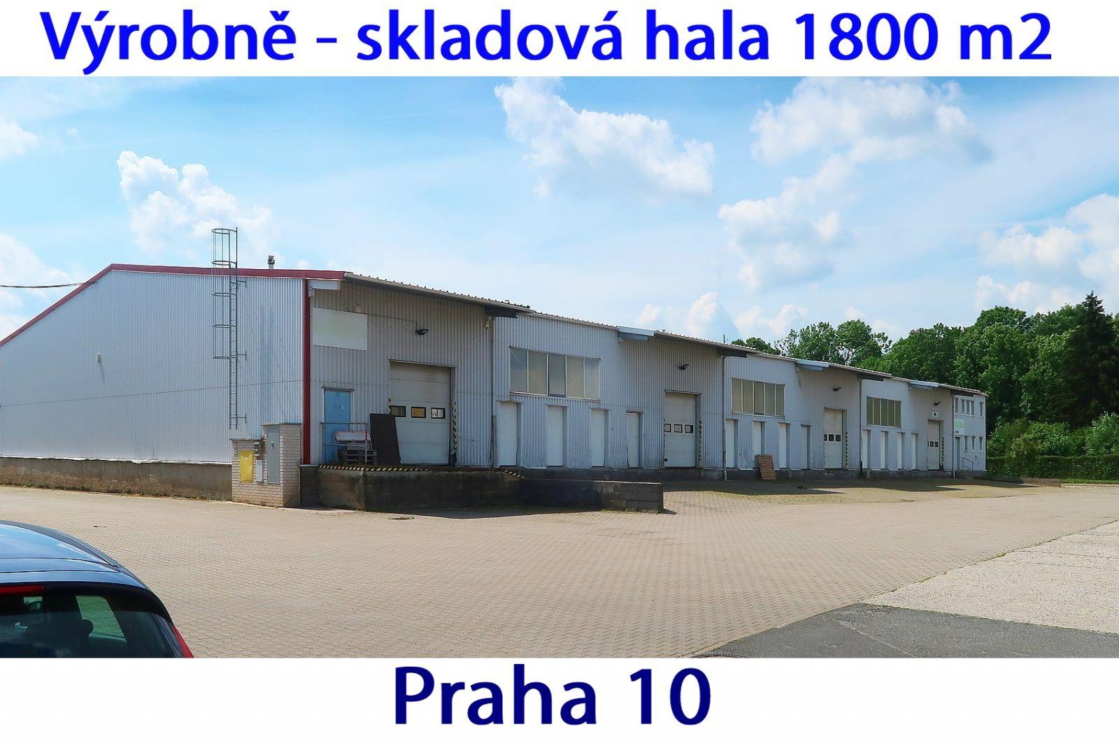 Hala 1800 m2 ( 2080 m2 celkem ), rampy TIR, zázemí, Praha 10