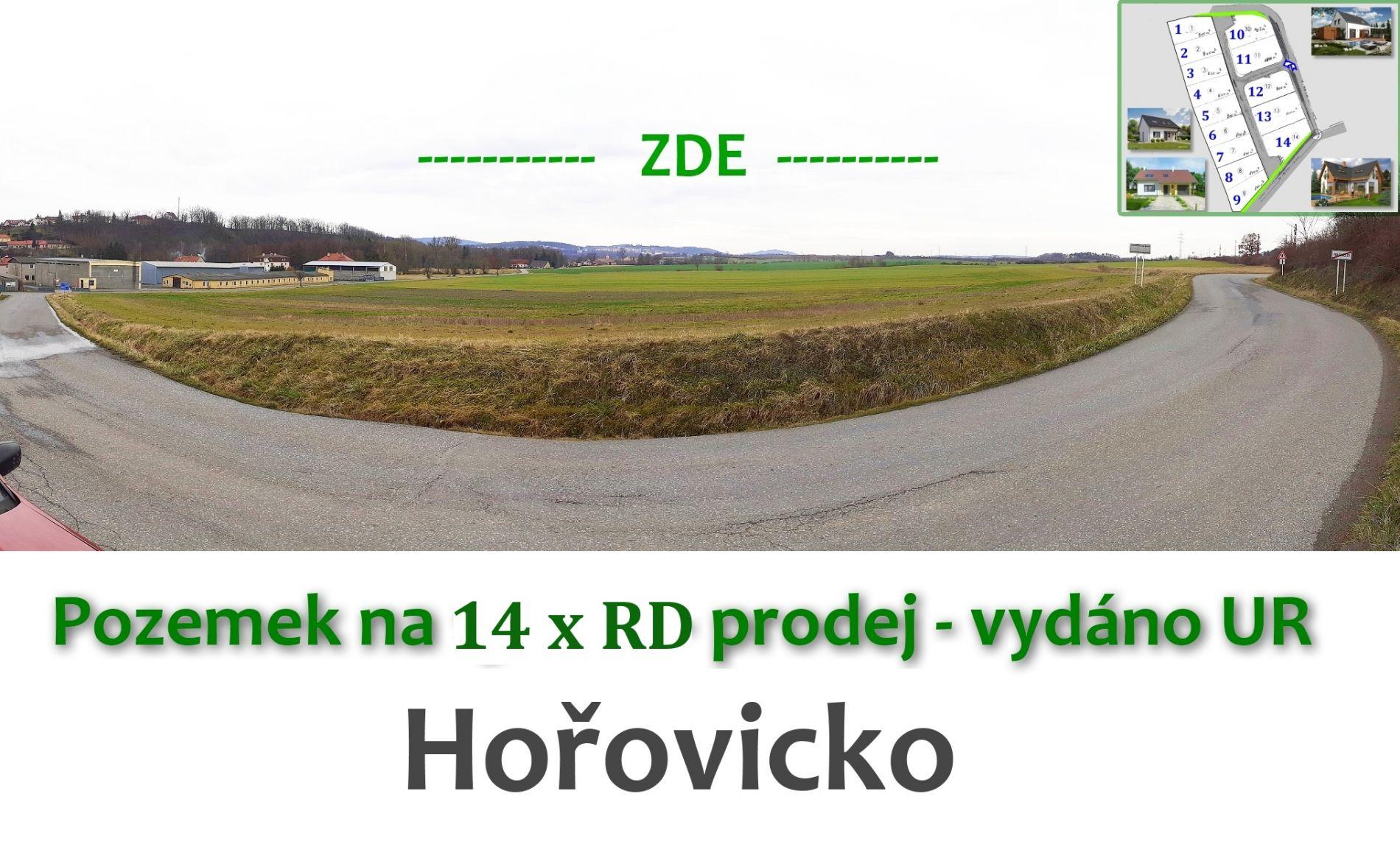 Pozemek s projektem na 14 x RD - Hořovicko (D5)
