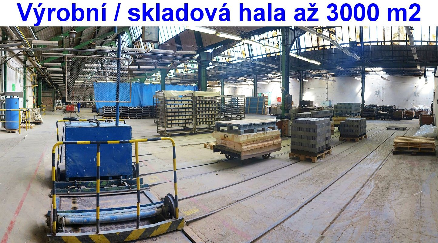 Hala 1.500 až 3.000 m2, Vlečka, rampa TIR, LOUNY