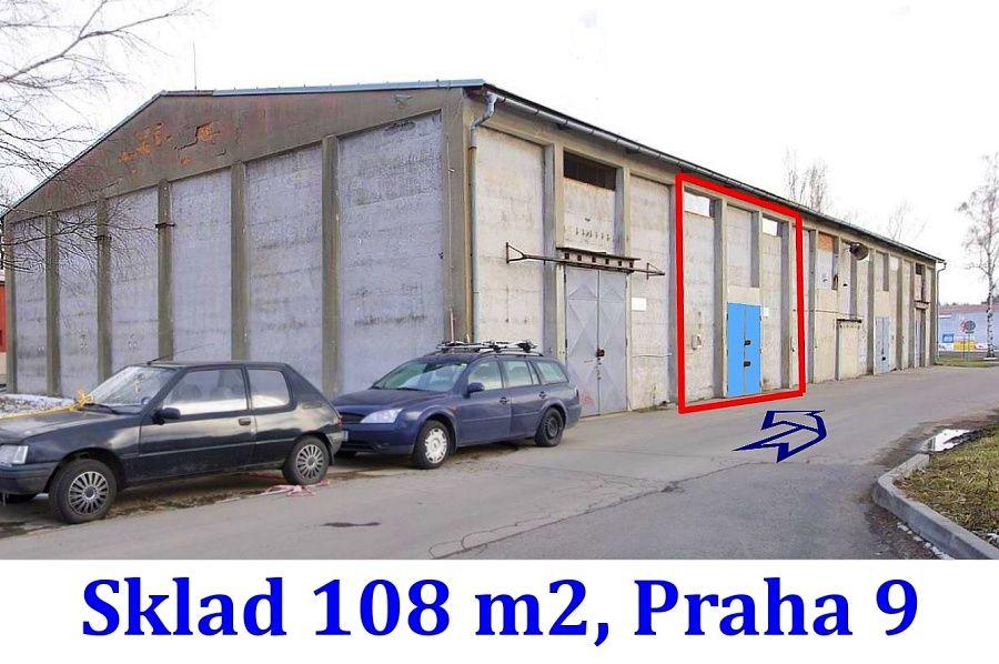 Přízemní sklad  108 m2, Praha 9