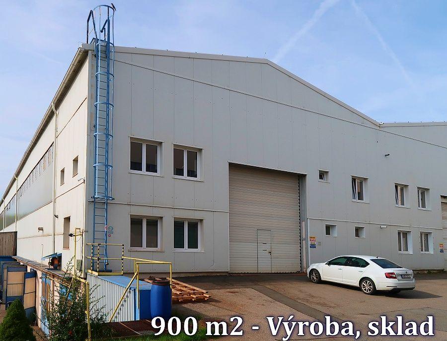 Nájem výrobně-skladové haly 900 m2, Jeřáb 8t, Jílové u Prahy
