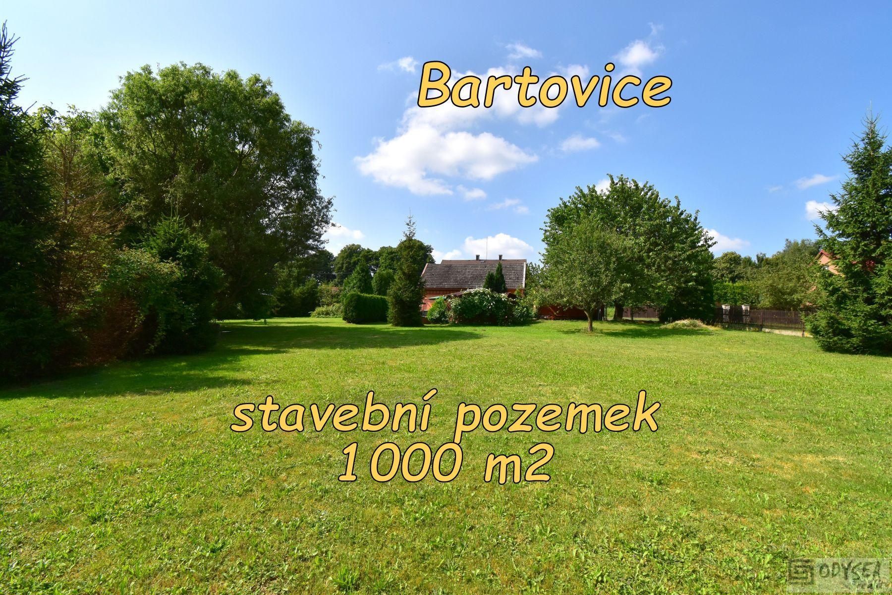 Prodej pozemku 1000 m2, obec Bartovice, okr. Ostrava