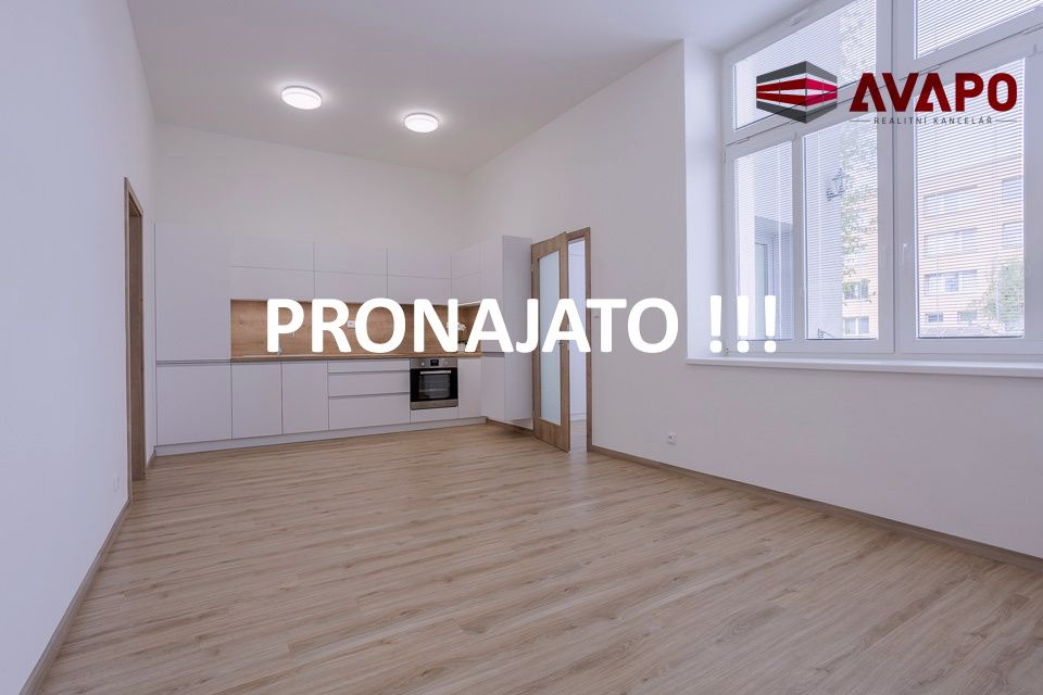 PRONAJATO !!! Pronájem velmi pěkného  bytu 1+KK se zahradou a parkováním, ul. Jateční, Opava