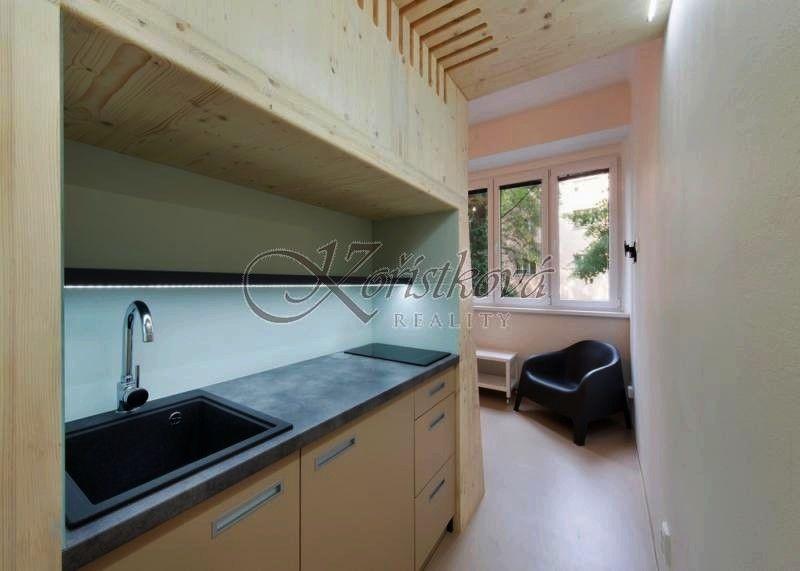 Pronájem zařízený byt 1+kk, 20 m2, OV, Nusle