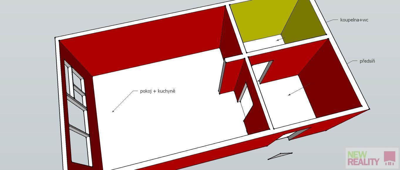 Prodej bytu 1+kk, o výměře 17,50 m2 + sklep, ve 4.patře na adrese Újezd, Malá Strana, Praha 1