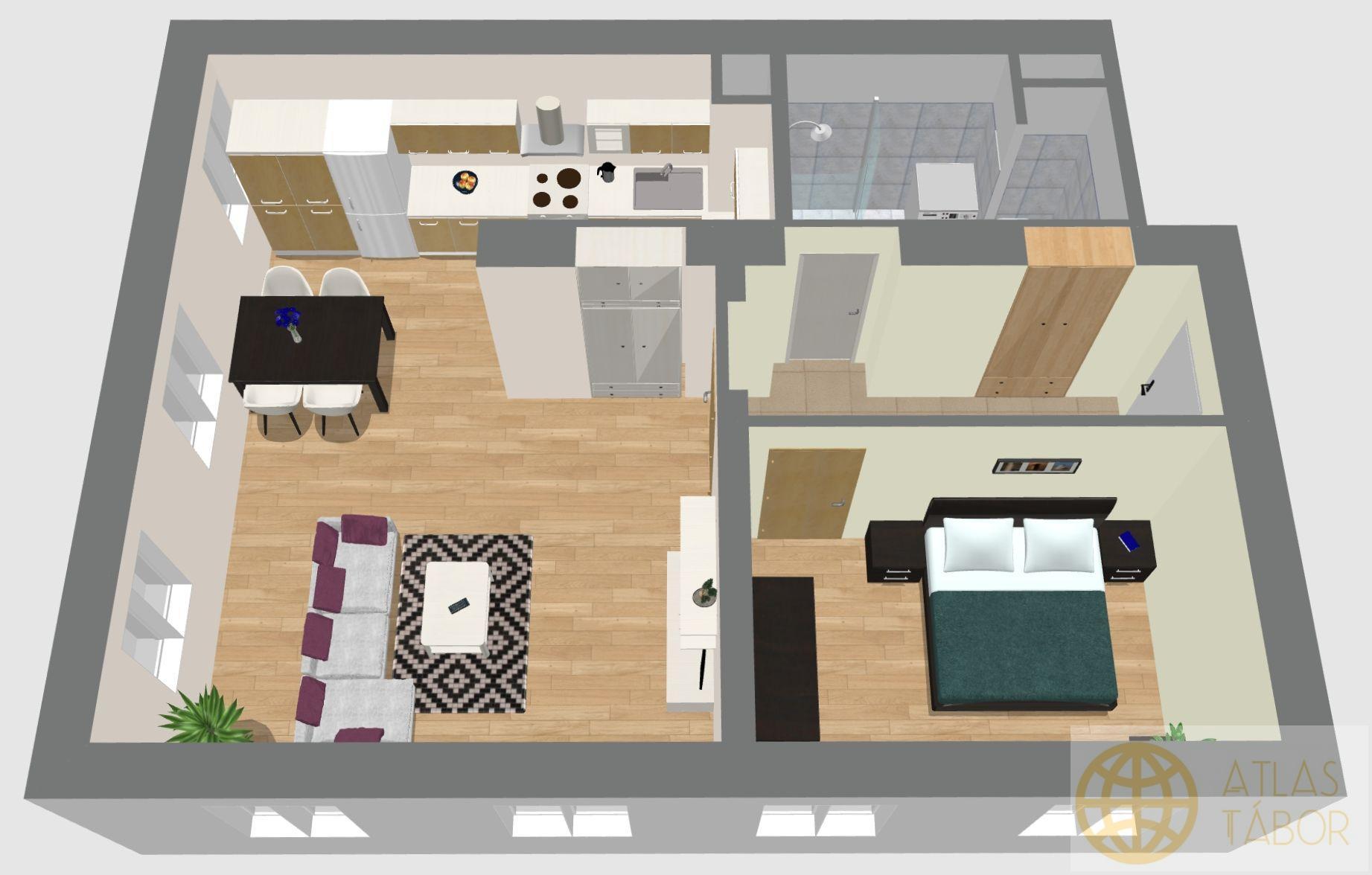 Rezervace nových bytů  v projektu Dvorce II - byt č. 1.6. - REZERVACE