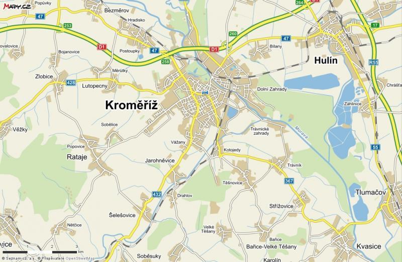 Prodej pozemků v průmyslové zóně Kroměříž