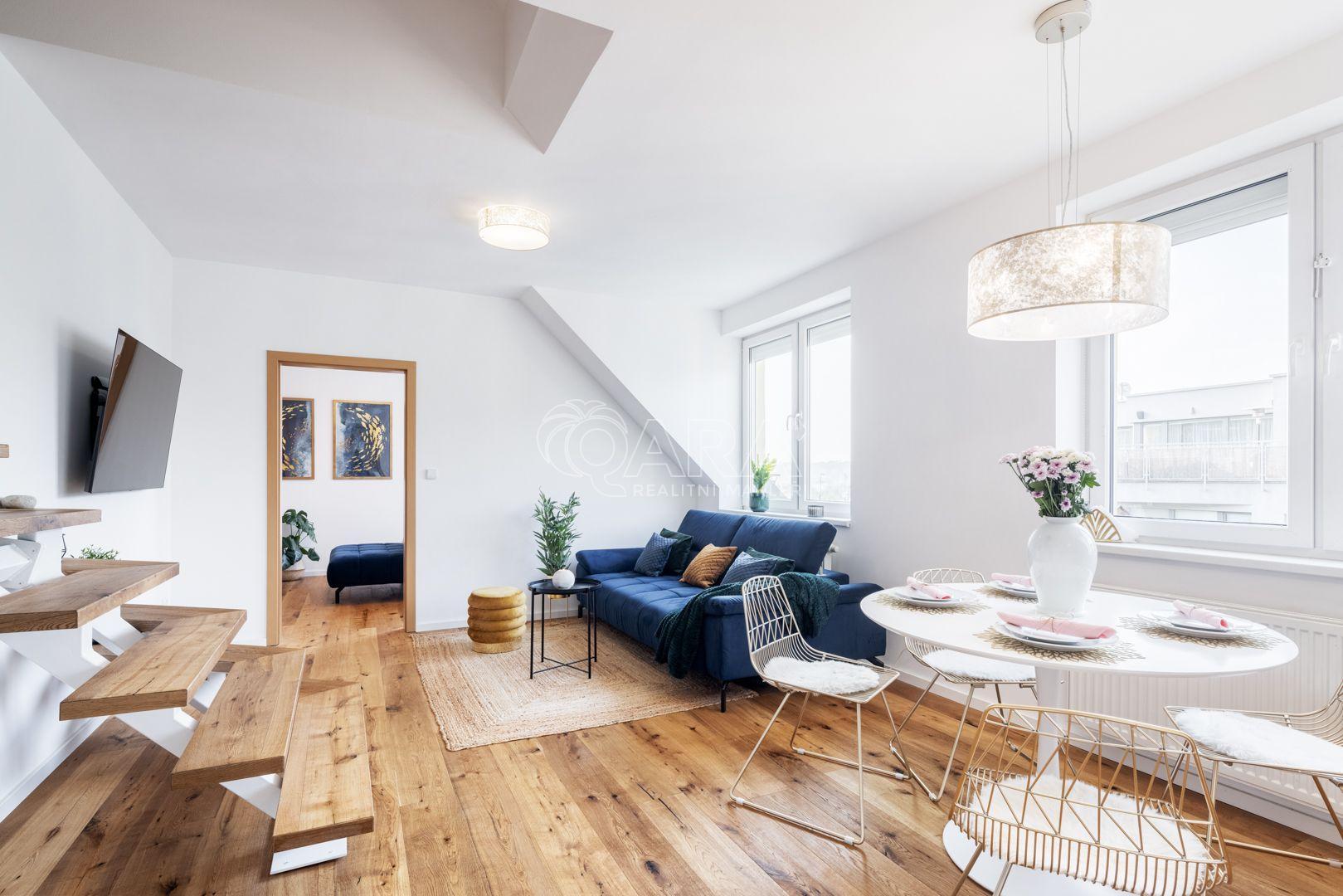 Na prodej krásný mezonetový byt 4+kk, 117m2, ul.Františka Kadlece, Praha 8-Libeň