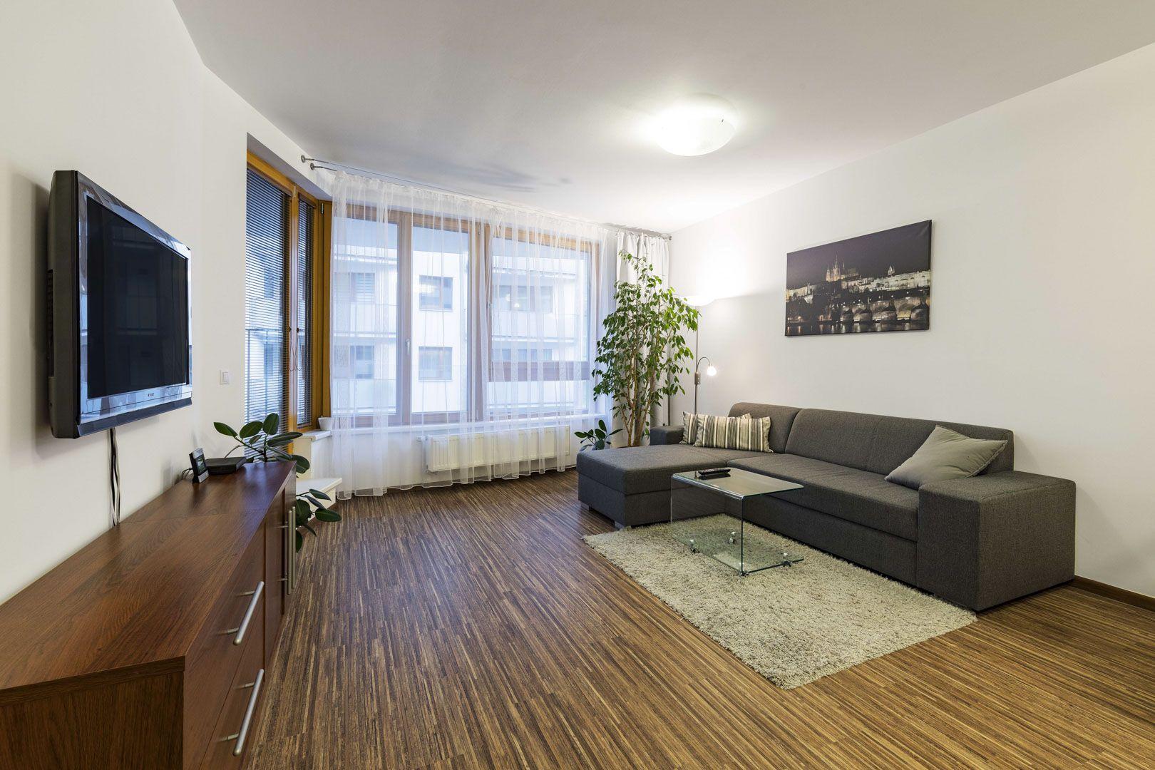 Byt v novostavbě u obchodního centra Nová Harfa, Vysočany