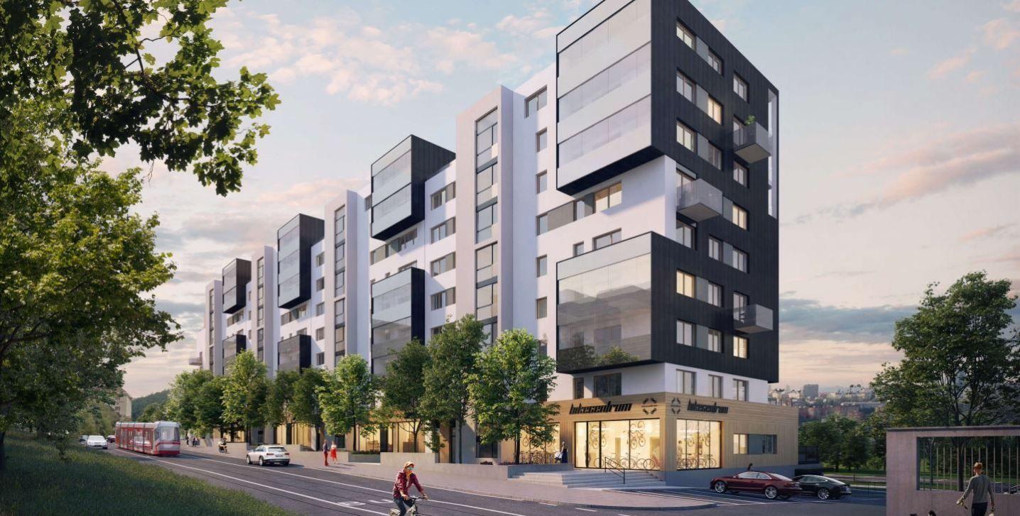 Nový pasivní byt 1+kk 37,19 m2 se zimní zahradou v projektu Bohdalecké Kvarteto, Praha 4 - Michle