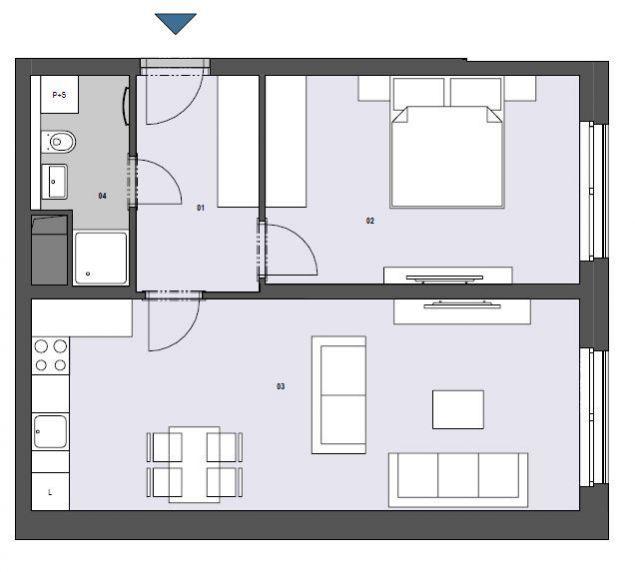 Nový pasivní byt 2+kk 60m2 v projektu Rezidence Silver Port, Praha 10 - Strašnice