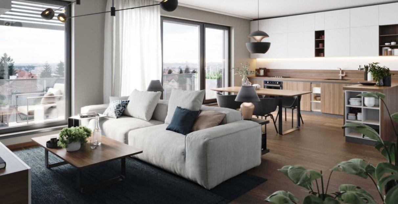 Krásný pasivní byt 2+kk 52,6 m2 v projektu Rezidence Silver Port, Praha 10 - Strašnice