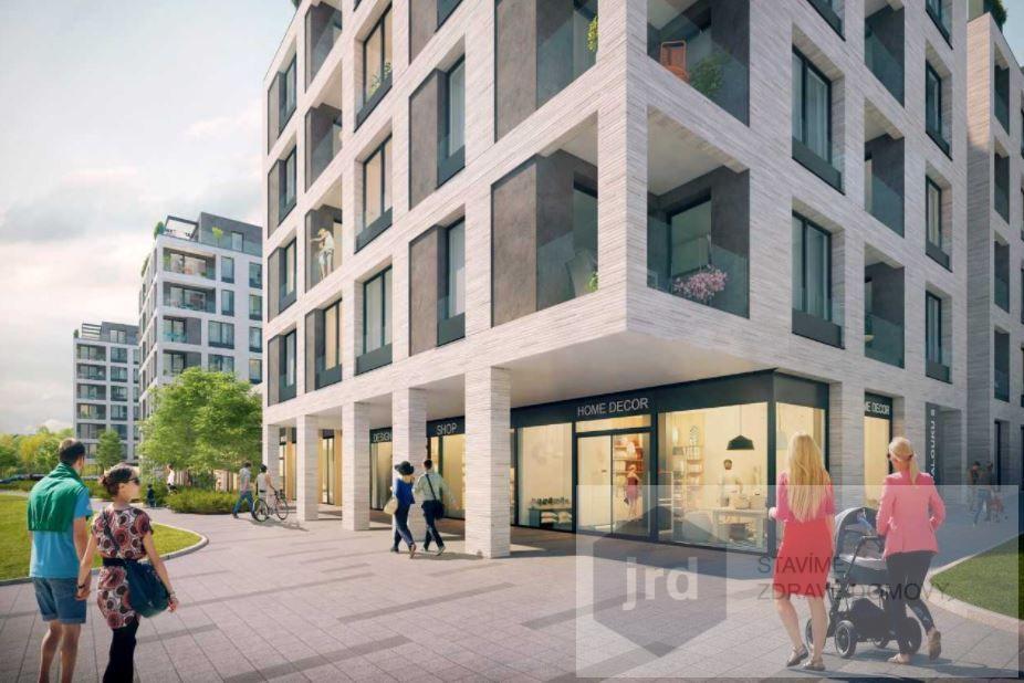 Pronájem komerčního prostoru 110 m2 v projektu Green Port Strašnice, Praha 10