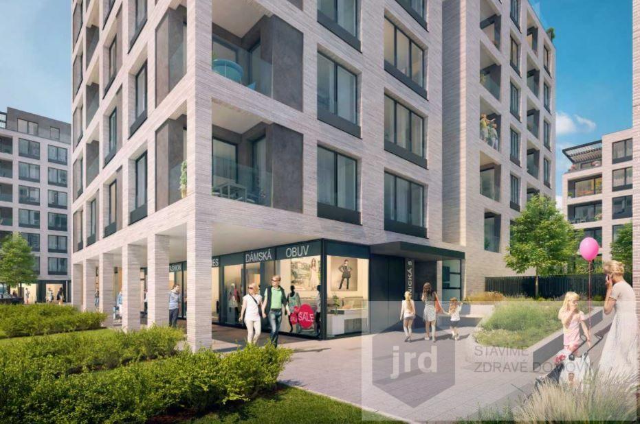 Pronájem komerčního prostoru 155 m2 v projektu Green Port Strašnice, Praha 10
