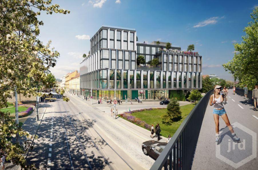 Kancelářské prostory 300 -1200 m2 v novém projektu Viadukt Anděl, Praha 5