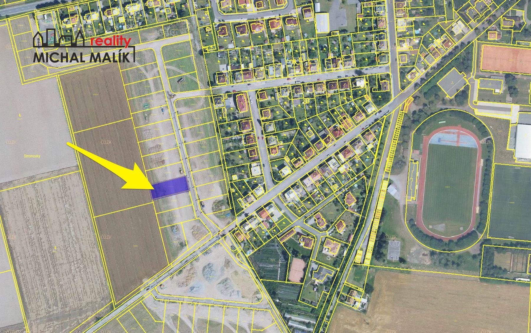 Prodej stavebního pozemku 1136 m2, Chmelnice, Lipník nad Bečvou