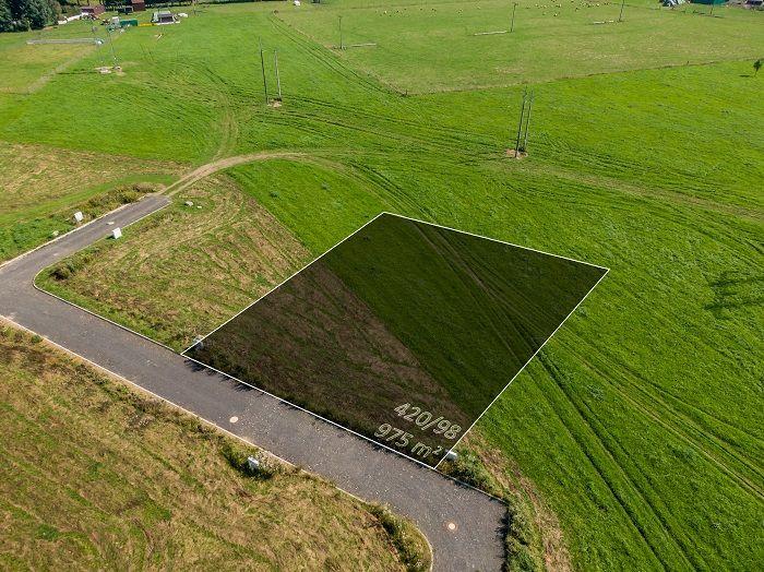 Prodej stavebního pozemku 975 m2, Zádub - Závišín