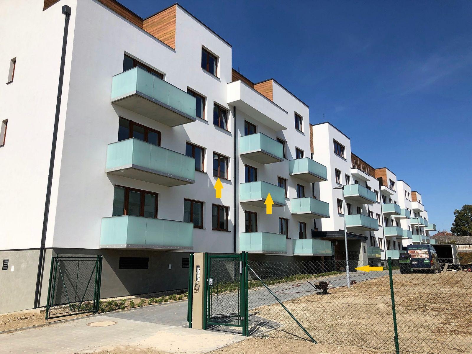 Pronájem nového bytu 2+kk s GS v Olomouci - tř. Jiřího Pelikána