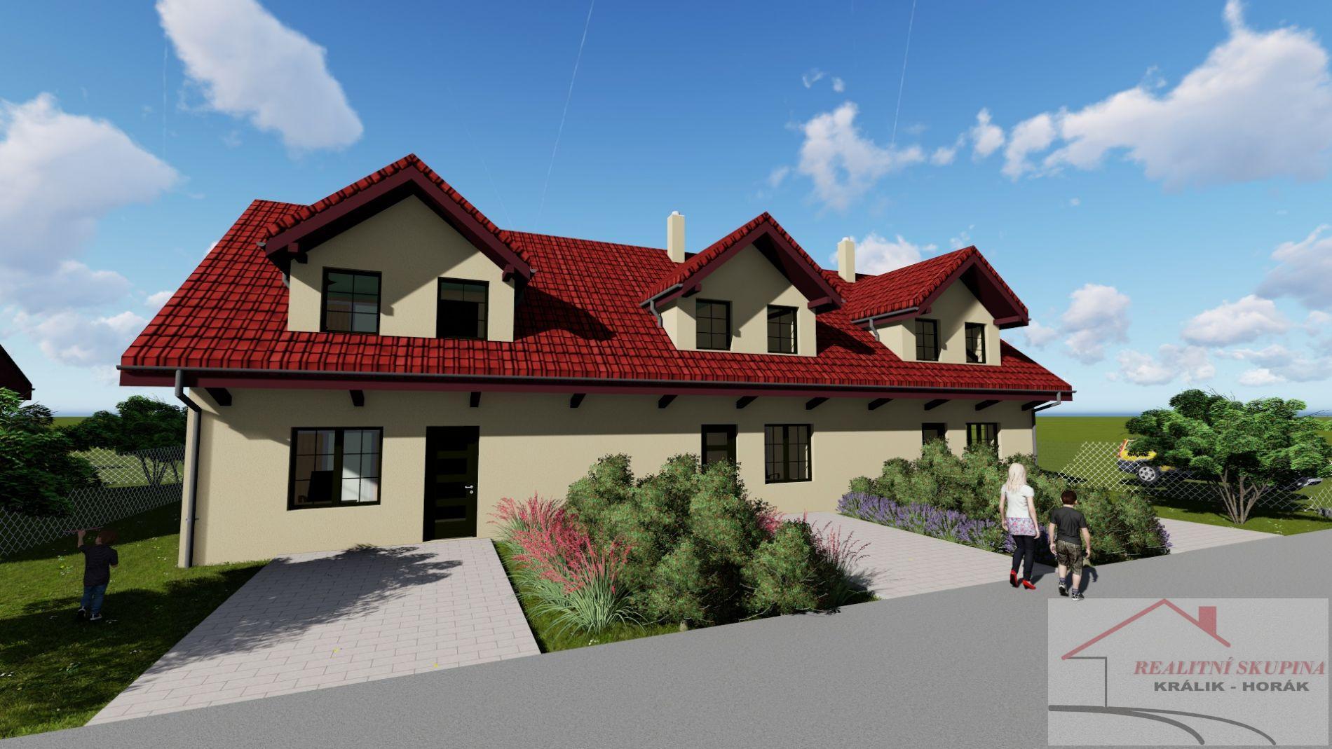 Pozemky k výstavbě  8 samostatných rod. domů o 22 bytech. Kutná Hora-Malín.