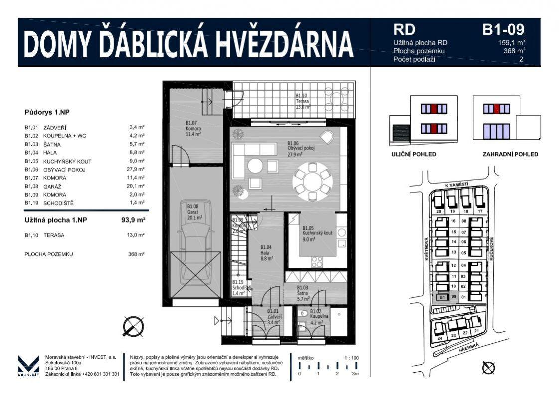 Prodej rodinného domu 159 m2, pozemek 368 m2