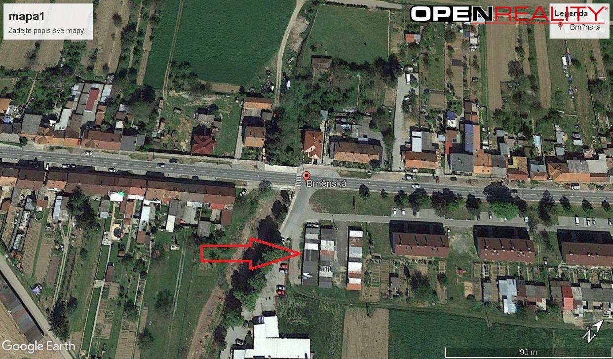 Pronajem, garáž 22 m2, Brněnská, Pohořelice