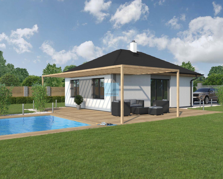 Prodej domu 4+KK na klíč 69m2, pozemek 852m2, Píšťany, okr. Litoměřice