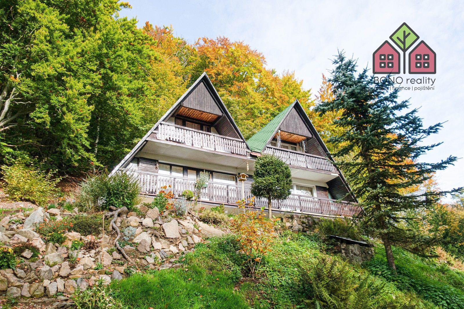 Chalupa 3+1, 187 m2, pozemek 304 m2, garáž, horské prostředí, okres Ústí nad Labem, obec Telnice