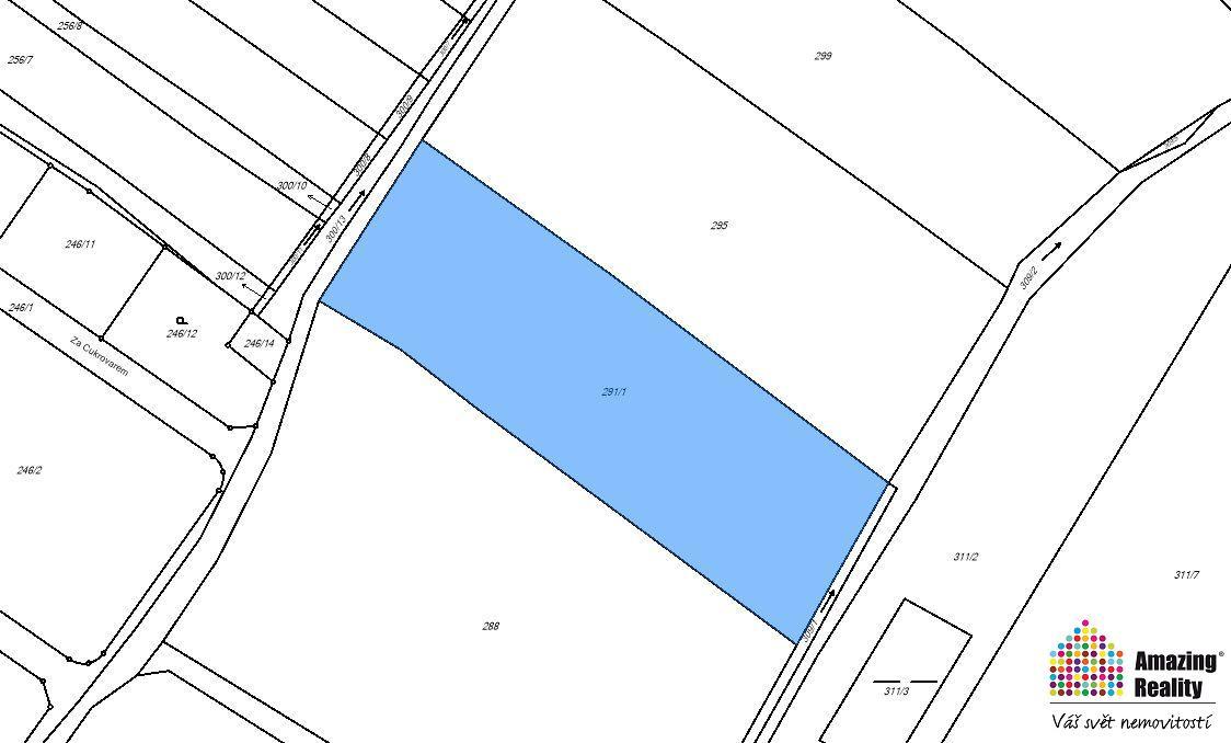 Prodej pozemku o výměře 6.312 m2, v obci Cerhenice, okr. Kolín