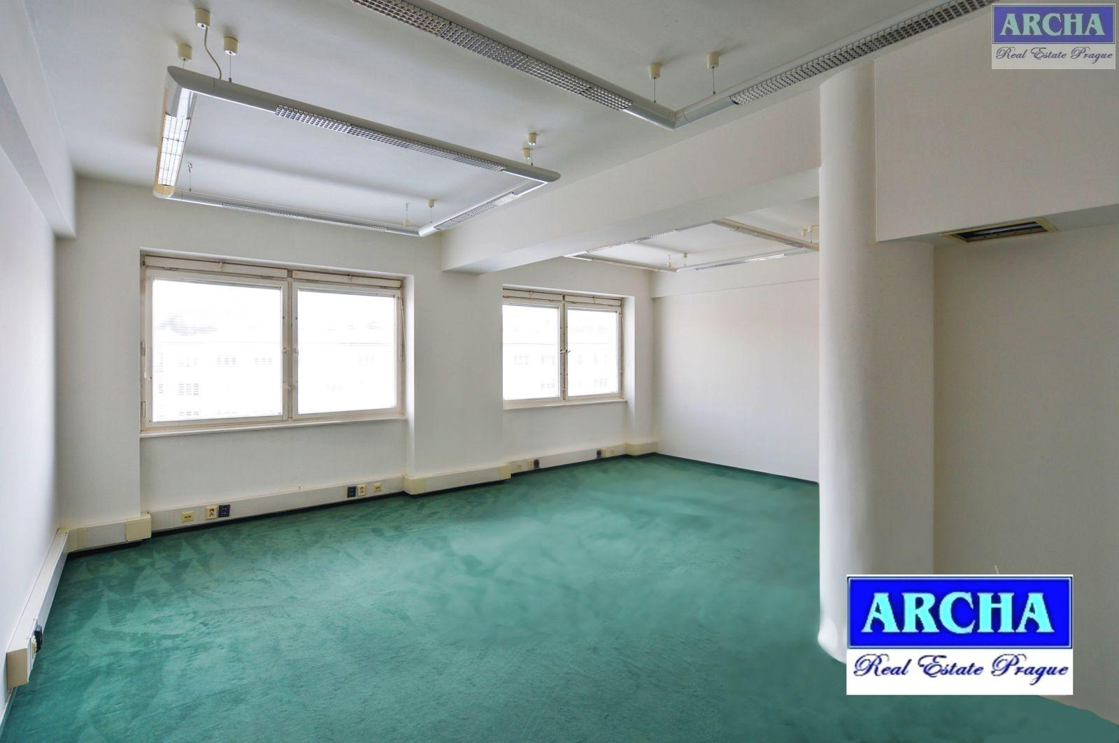 Nájem kancelářských ploch 162 m2, 4. patro, Litevská, Praha 10