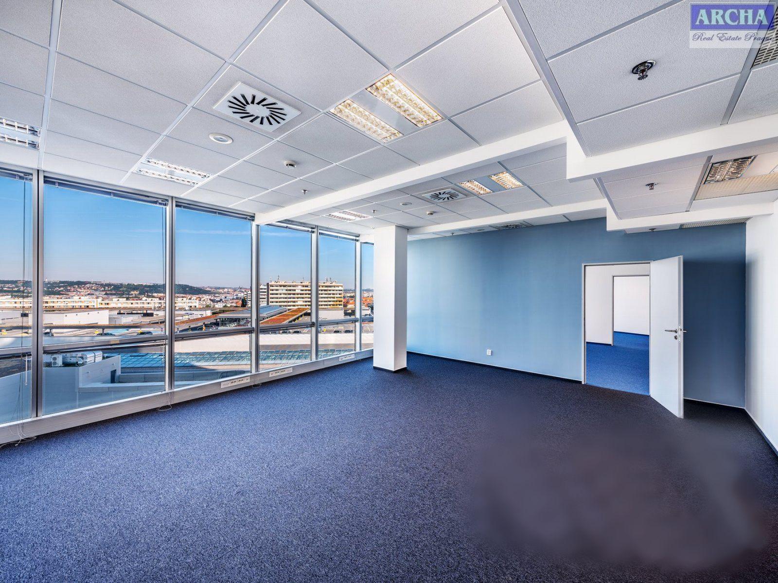 Nájem moderních kanceláří 236,5 m2, 25 patro, Praha 4 Pankrác