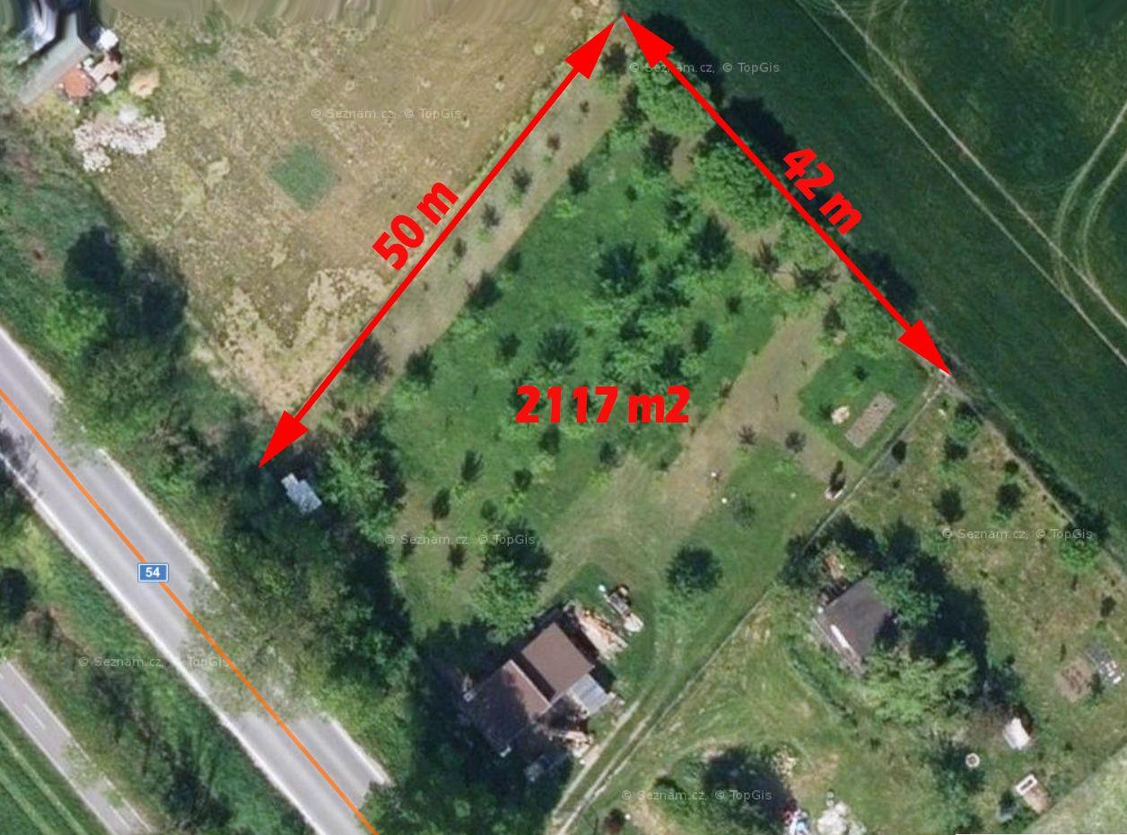 Prodej zahrady ve Veselí n.Moravou, 2117 m2