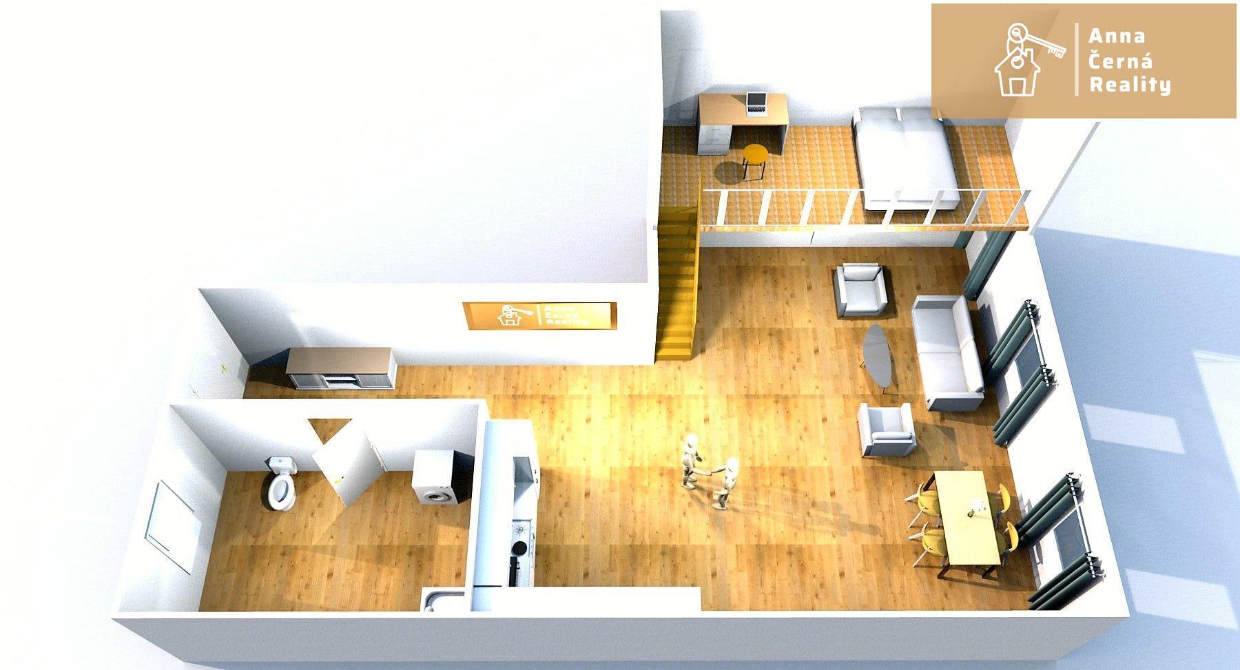Pronájem krásného půdního bytu 82 m2, Ústí nad Labem