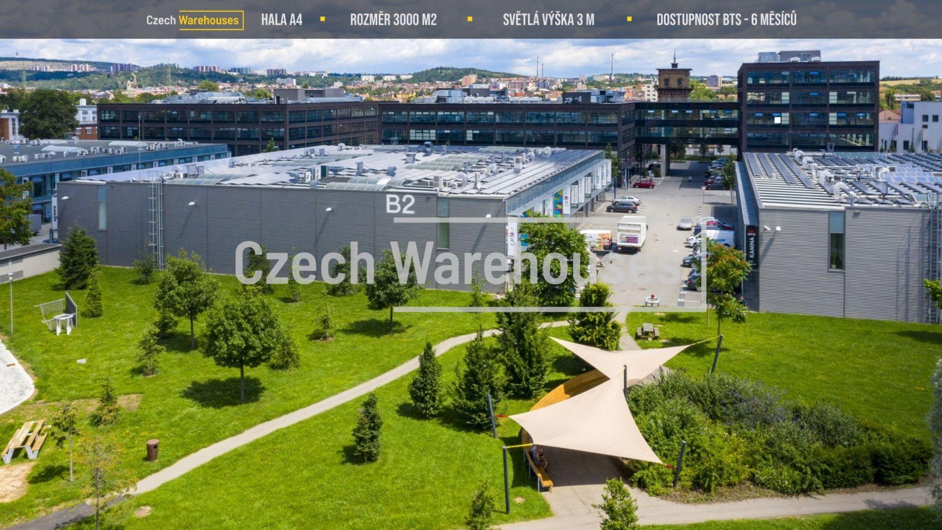 Pronájem skladových prostor, 3000 m2, Brno