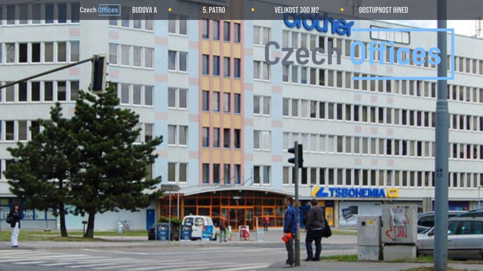 Pronájem kancelářských prostor, 300 m2, Brno