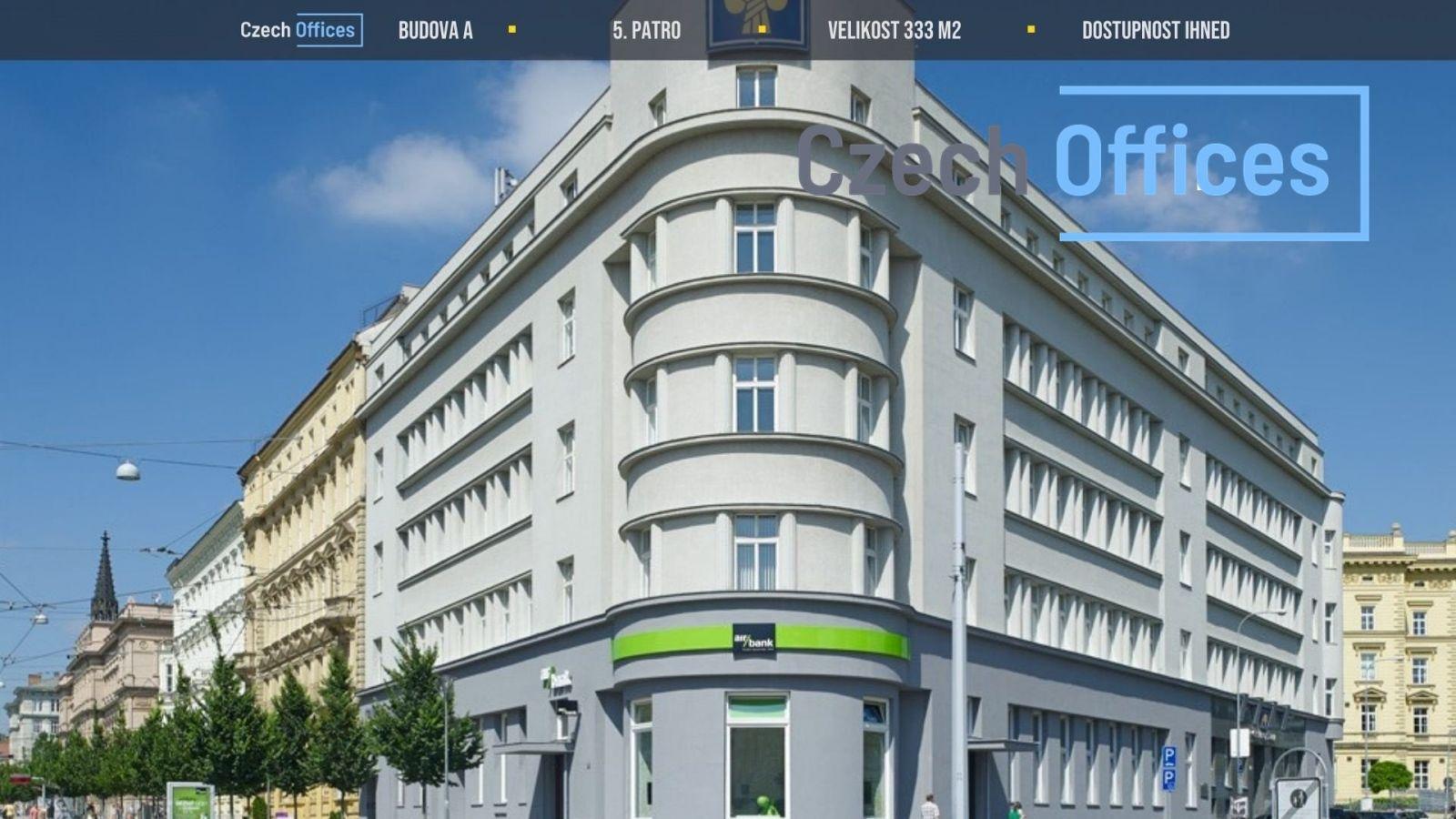 Pronájem kancelářských prostor, 331 m2, Brno