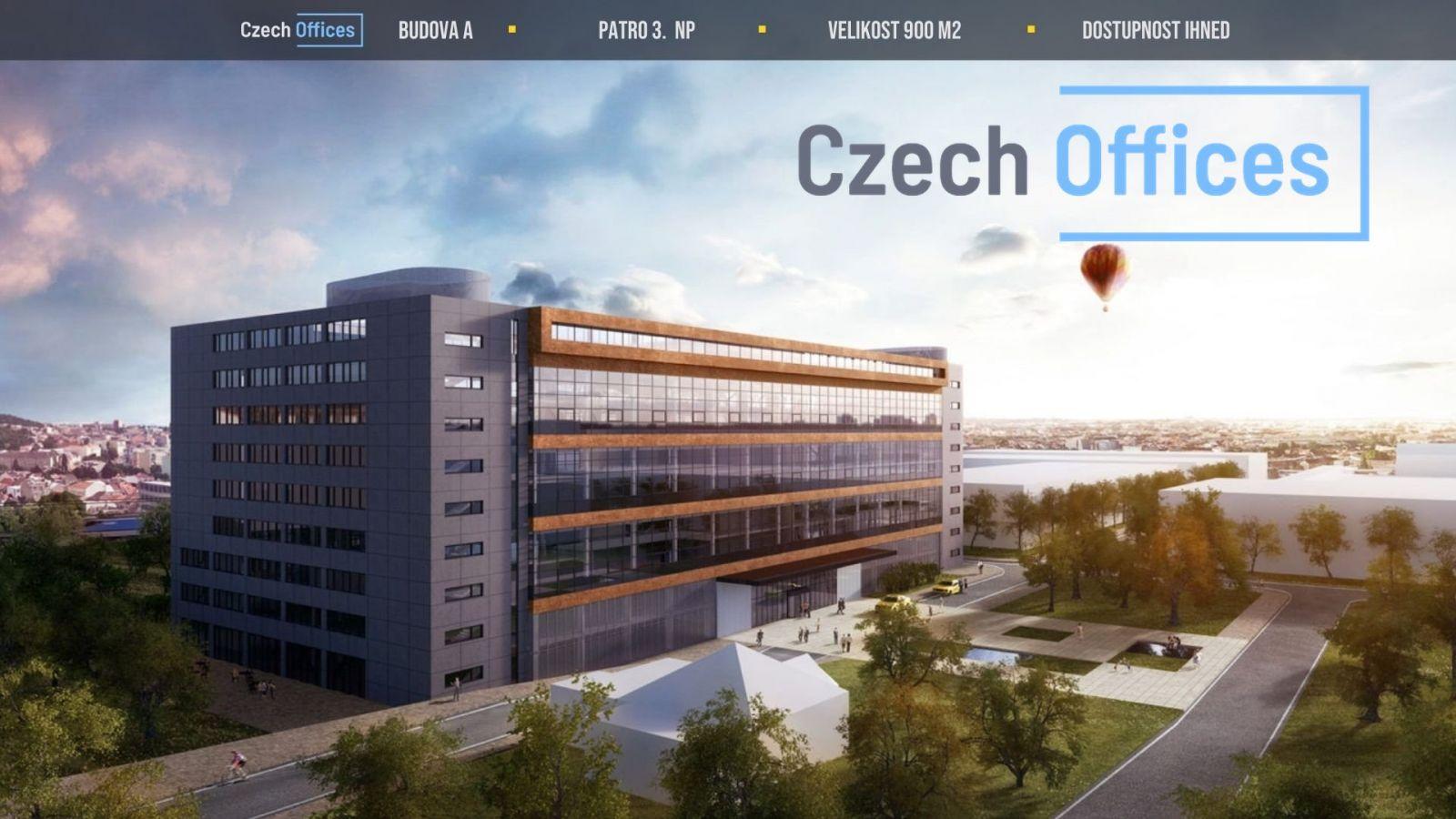 Pronájem kancelářských prostor, 900 m2, Brno-Židenice
